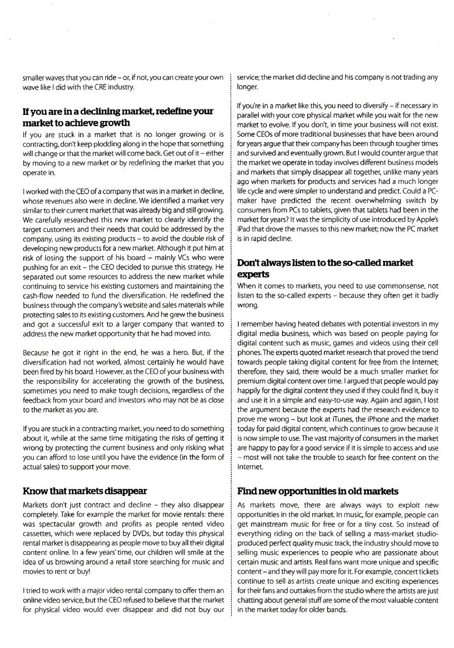 "Decision Magazine, Spring 2014, ""What every CEO needs to know about the Market"", page 3"