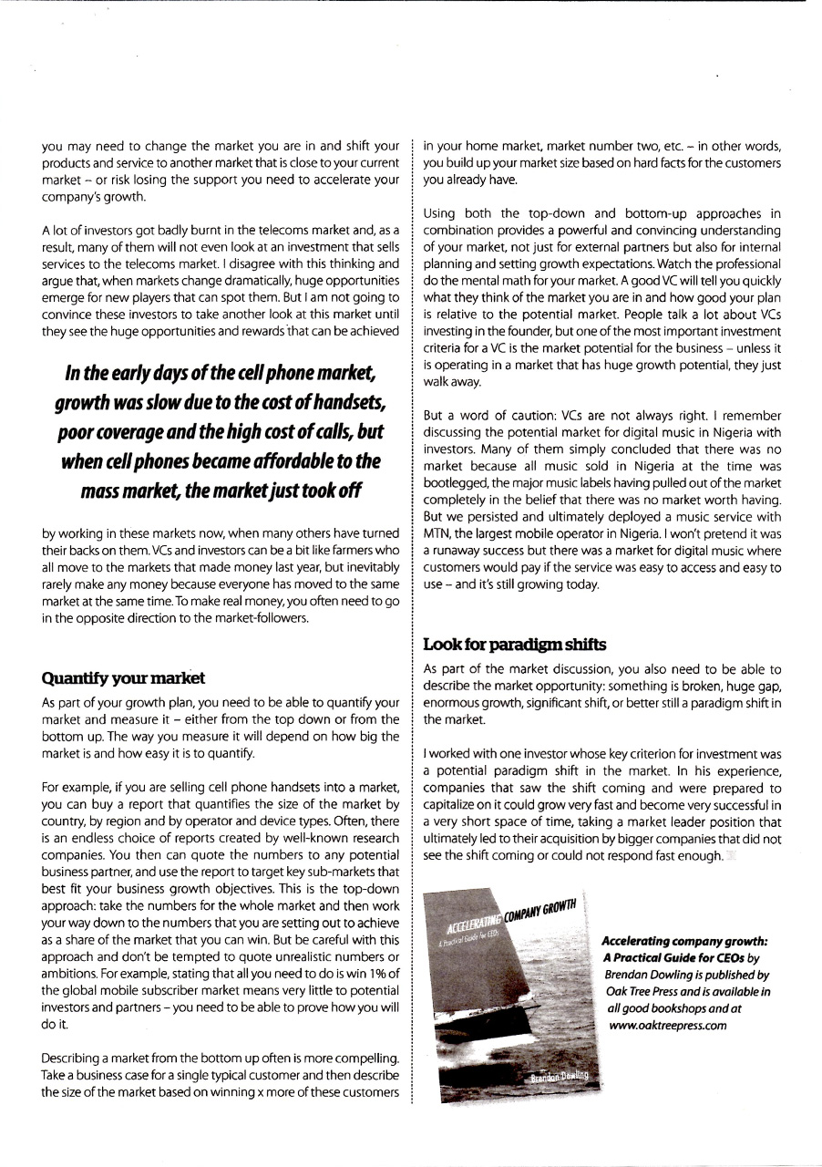 "Decision Magazine, Spring 2014, ""What every CEO needs to know about the Market"", page 5"